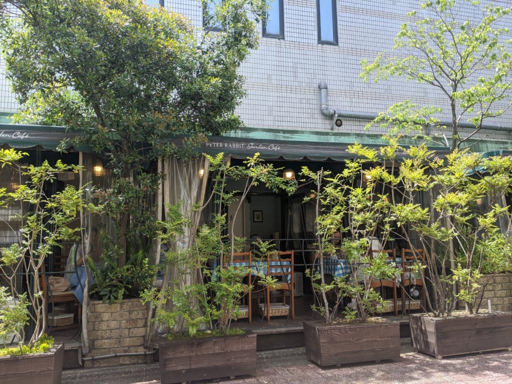 自由が丘でテラス席のあるお店「ピーターラビット ガーデンカフェ 自由が丘」