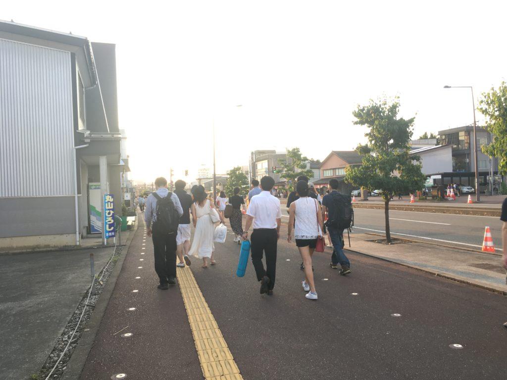 長岡花火混雑状況の写真