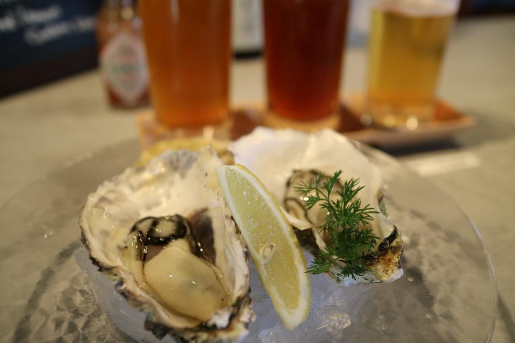 宮島ブリュワリーの生牡蠣