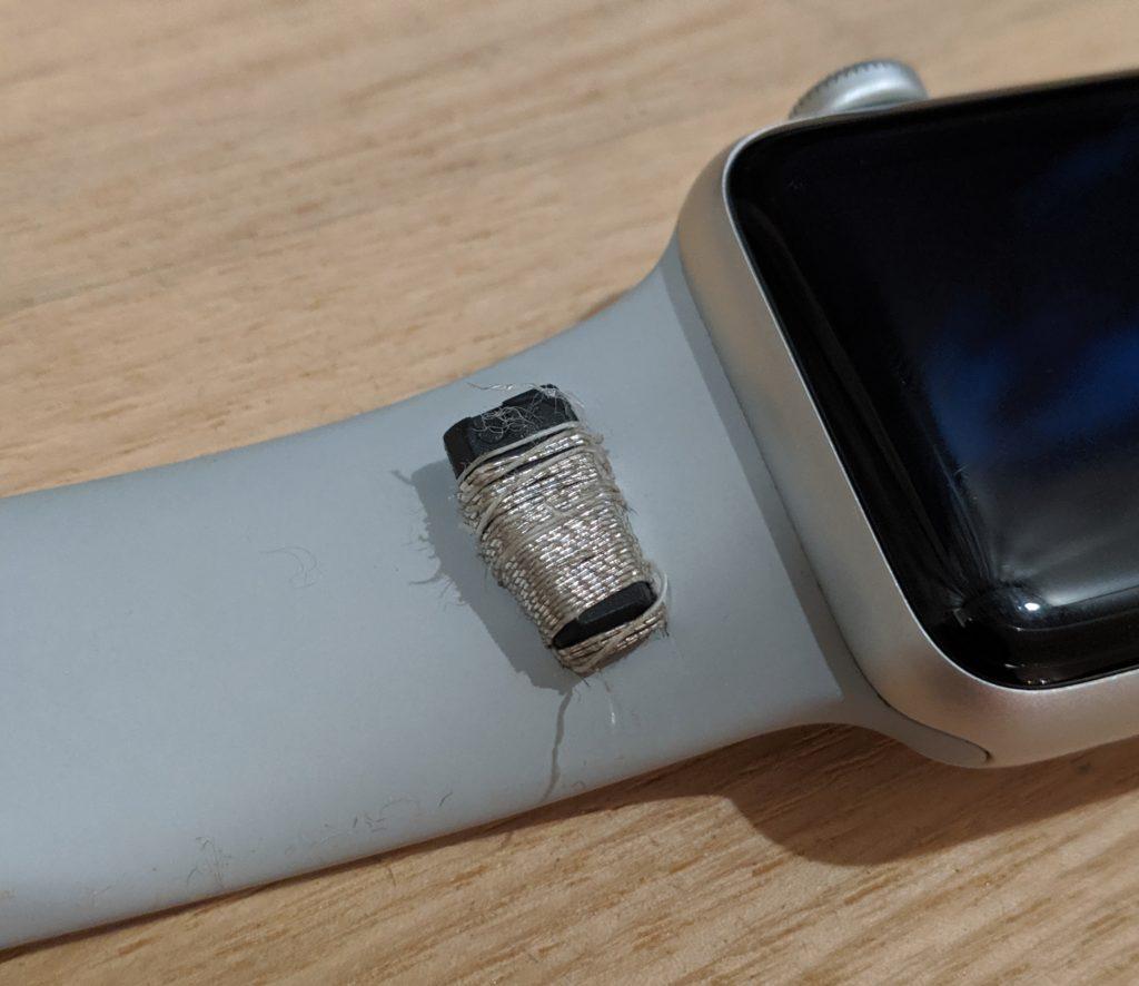 AppleWatchにオートロックセンサー取り付け