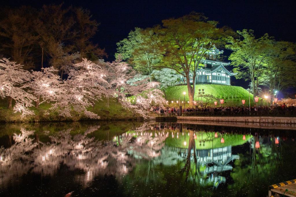 高田公園ライトアップ