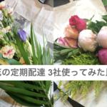 お花の定期配達使ってみた比較