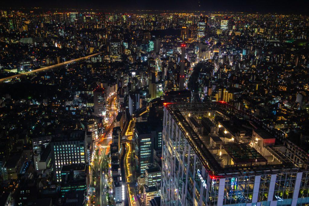 渋谷スカイから見下ろす夜景