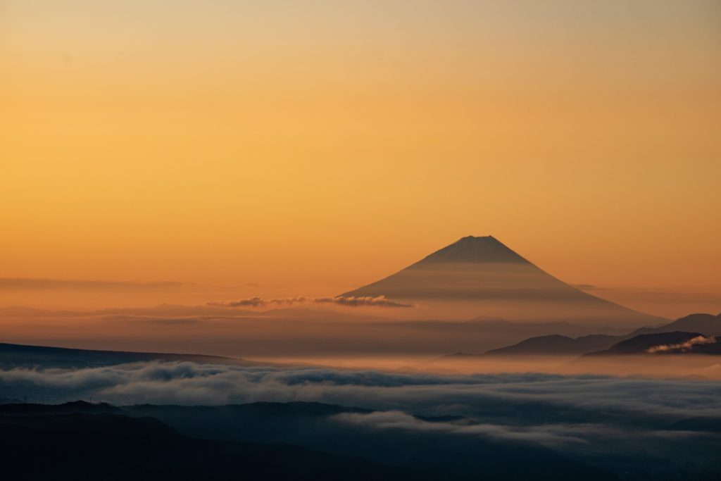 高ボッチ高原からの富士山