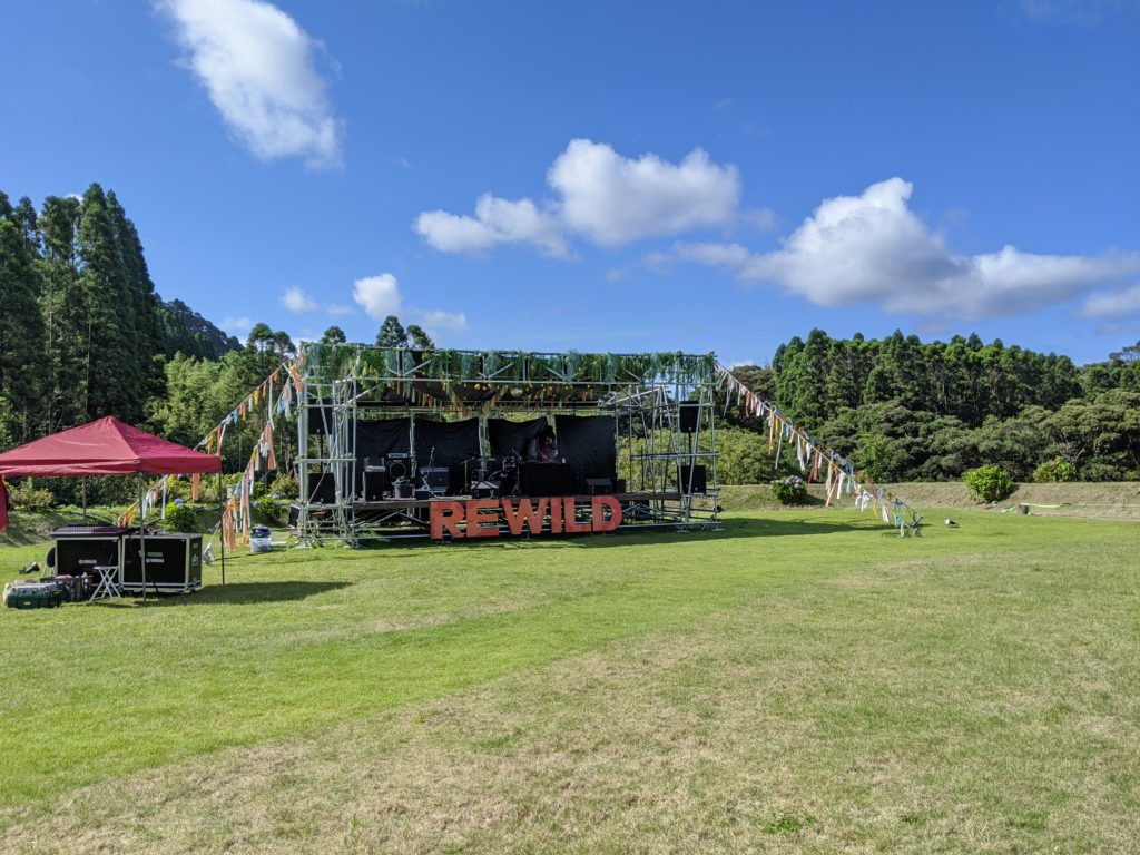REWILD MUSIC FES CAMPのステージ