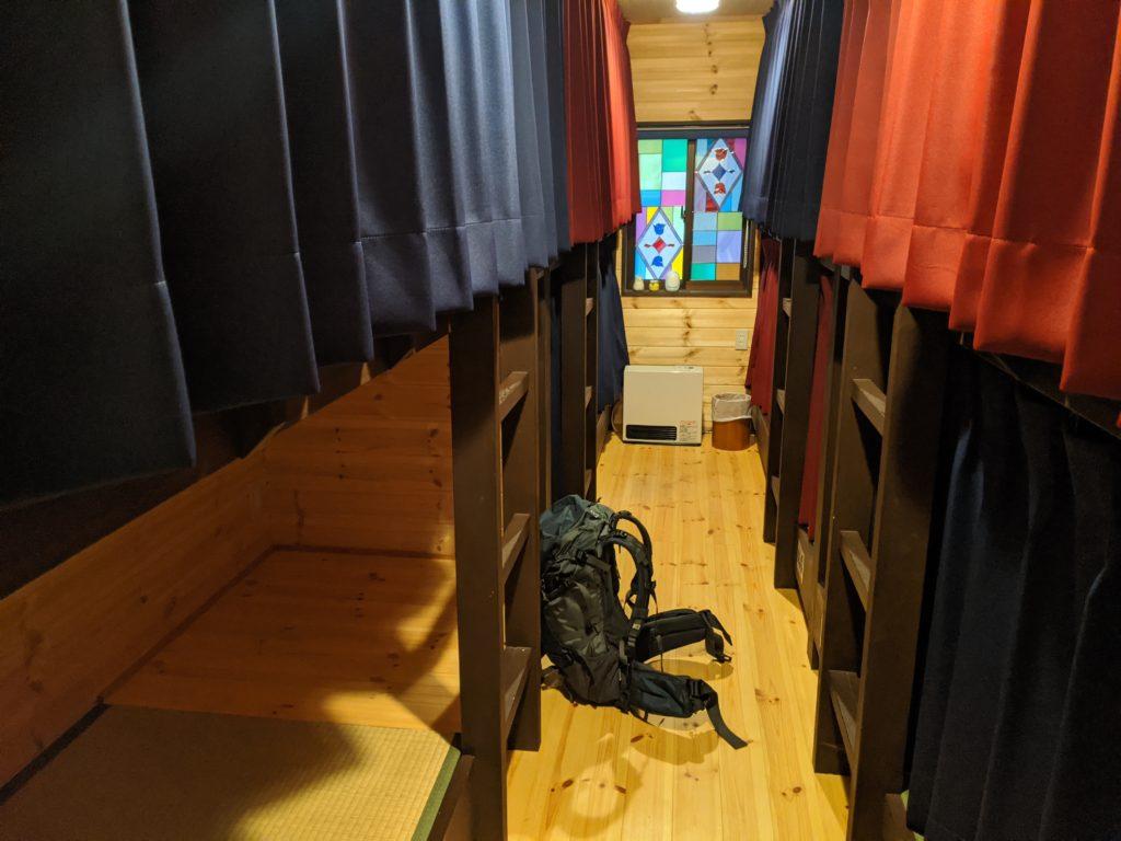 明神館の相部屋二段ベッド