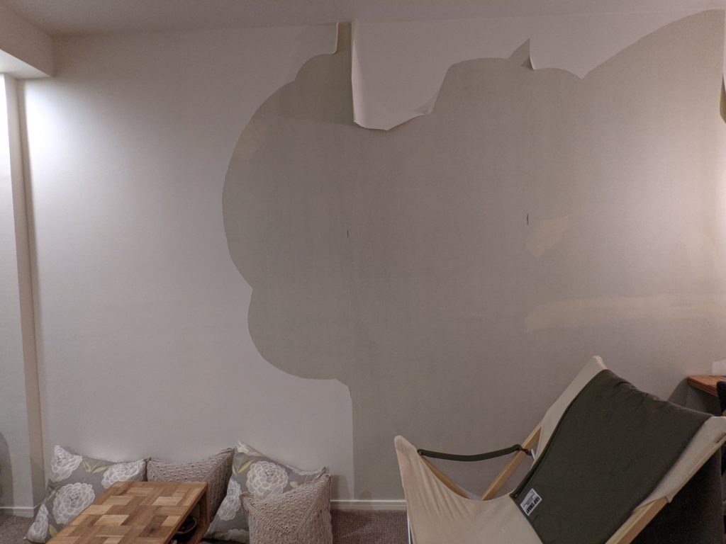 自分で壁紙を貼り替えるDIY-壁紙の剥がし方